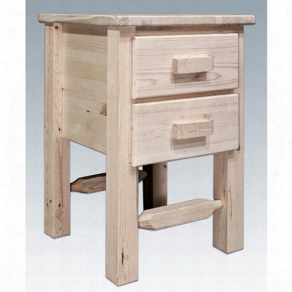 Montana Woodworks® Homestead Collection Nightstand With 2 Drawers