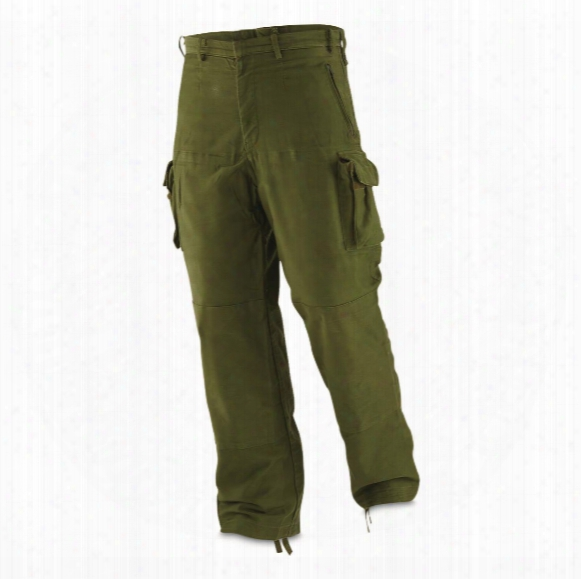 New German Military Surplus Police Riot Pants, Olive Drab