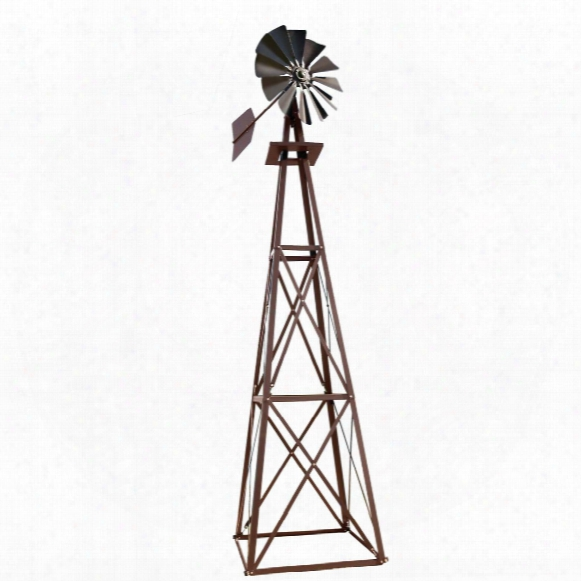 Outdoor Water Solutions&anp;#174; Ornamental Large Powder-coated Backyard Windmill