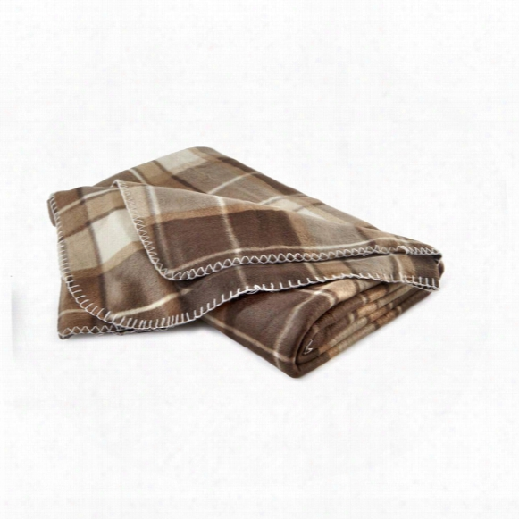 "Polar Fleece Plaid Throw, 60"" X 70"""