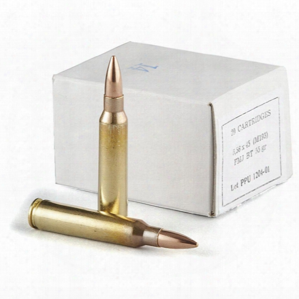 Ppu, .223 (5.56x45mm), Fmj-bt, 55 Grain, 20 Rounds