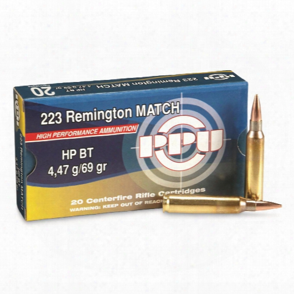 Ppu, .223 Remington, Match Hpbt, 69 Grain, 20 Rounds