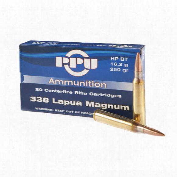 Ppu, .338 Lapua Magnum, Hpbt, 250 Grain, 20 Rounds