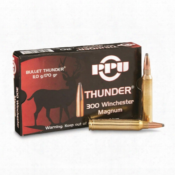 Ppu Thunder, .300 Win. Mag., Rifle, 170 Grain, 20 Rounds