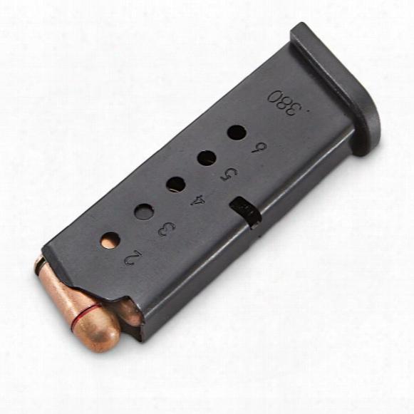 Pro Mag Smith & Wesson Bodyguard, .380 Acp Caliber Magazine, 6 Rounds