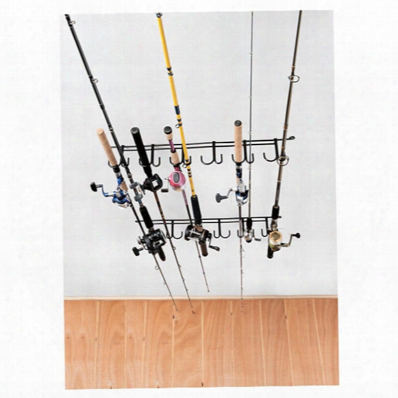 Rack'em 7009 Overhead 12 Pole Fishing Rod Rack