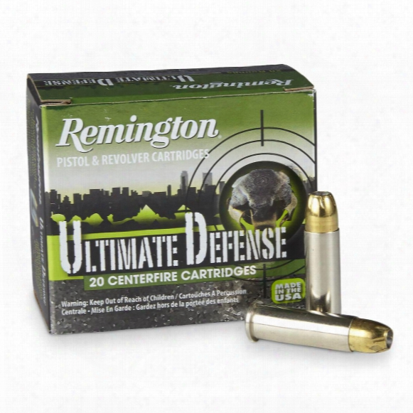 Remington, Hd Ultimate Defense, .38 Special. + P, Bjhp, 125 Grain, 20 Rounds