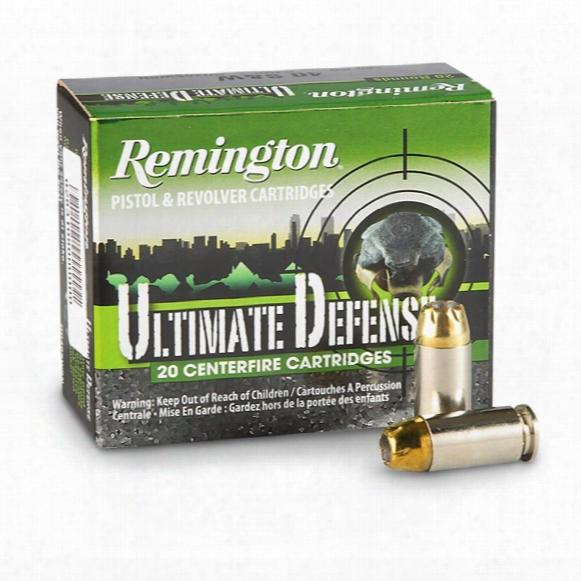 Remington Hd Ultimate Defense, .40 S&w, Bjhp, 180 Grain, 20 Rounds