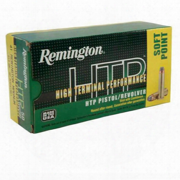 Remington High Terminal Performance, .41 Remington M Agnum, Sp, 210 Grain, 50 Rounds