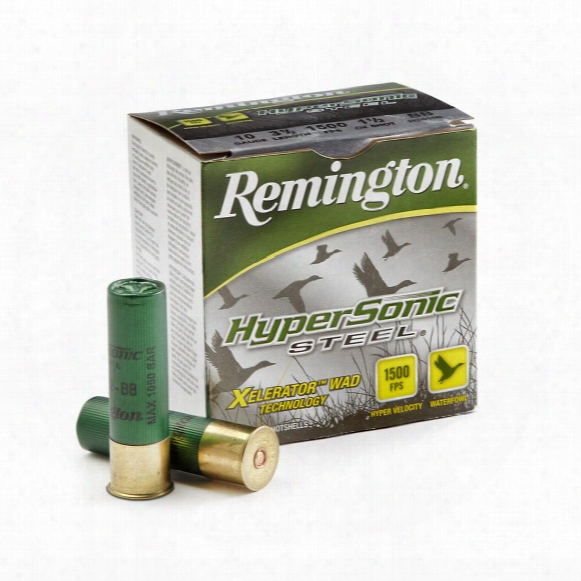 "Remington Hypersonic Steel 10 Gauge 3 1/2"" Bbb Shot 1 1/2 Oz. Shot Shells, 25 Rounds"
