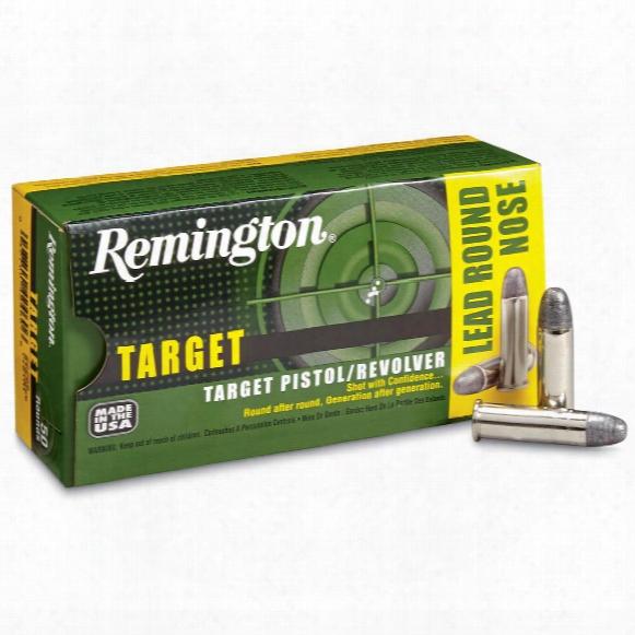 Remington Target Pistol / Revolver Ammo, .38 Special, Lrn, 158 Grain, 50 Rounds