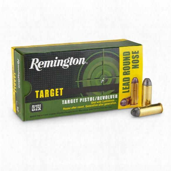 Remington Target Pistol / Revolver Rounds, .45 Colt, Lrn, 250 Grain, 50 Rounds