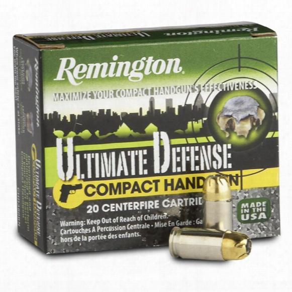 Remington Ultimate Defense, .380 Acp, Bjhp, 102 Grain, 20 Rounds