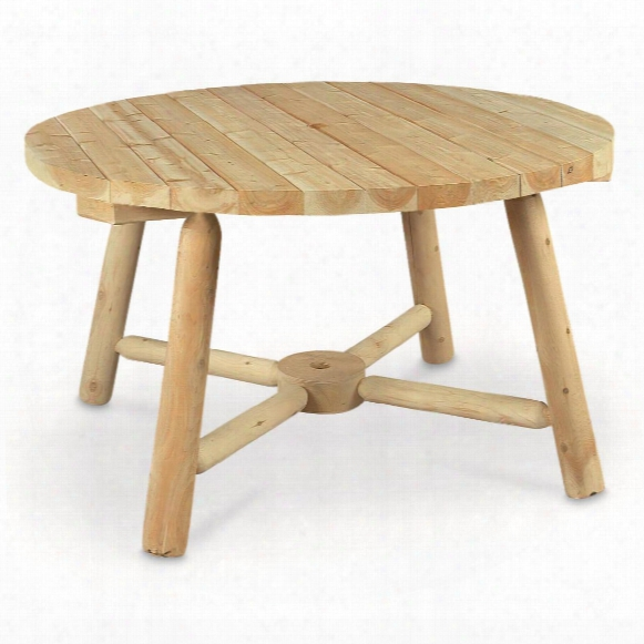 "Rustic Natural Cedar Unfinished 48"" Round Table"