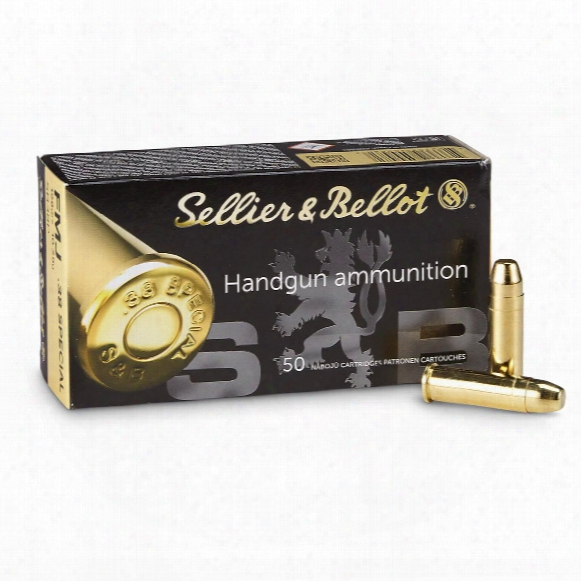 Sellier & Bellot, .38 Special, Fmj, 158 Grain, 500 Rounds