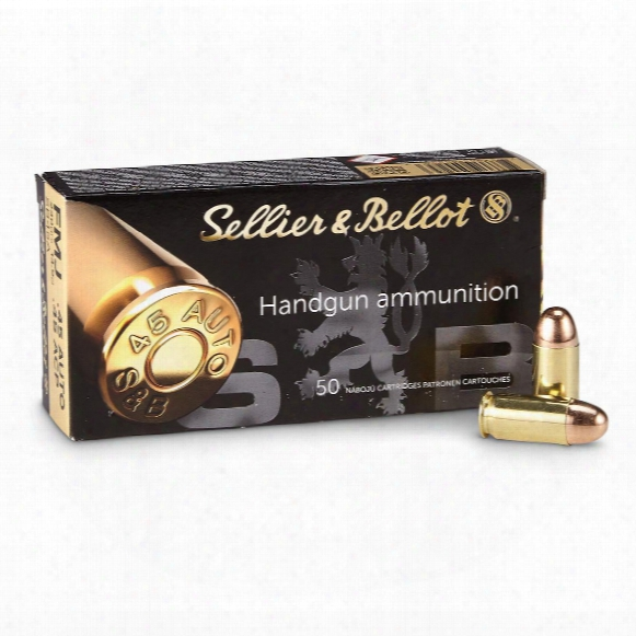 Sellier & Bellot .45 Acp Fmj Ammo, 230 Grain, 250 Rounds