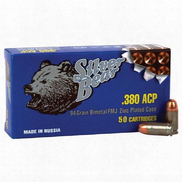 Silver Bear, .380 Acp, Fmj, 94 Grain, 1,000 Rounds