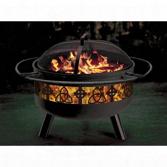 "Stone River® Steel 28"" Celtic Fire Pit / Grill"