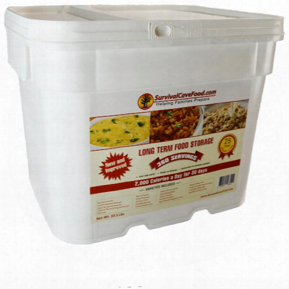Survival Cave 360-serving Freeze Dried Emergency Food Kit