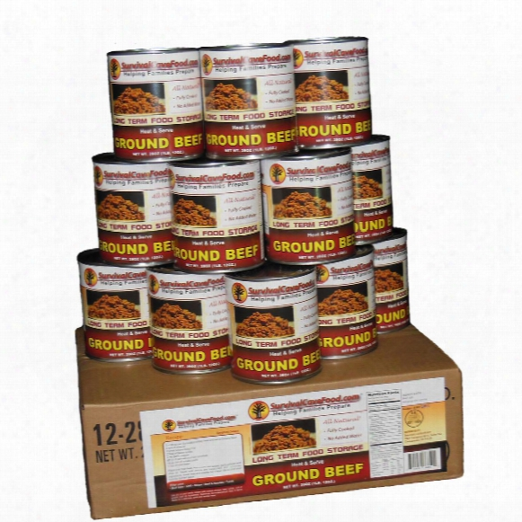 Survival Cave Food® Canned Ground Beef, 12-pk. / 28-oz. Cans