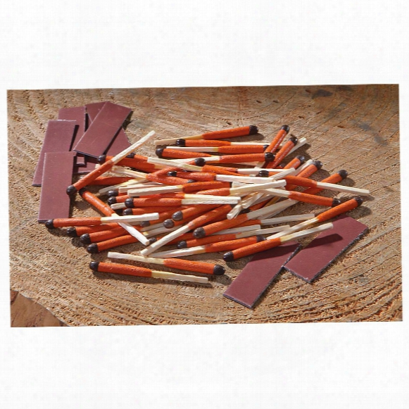 Survival Waterproof Fire Starter Matches, 100 Pieces