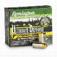 Remington Ultimate Defense, 9mm Luger, BJHP, 124 Grain, 20 Rounds