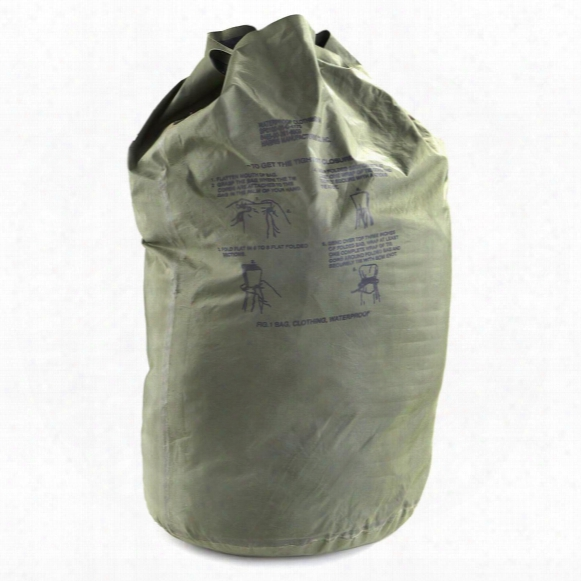 U.s. Military Surplus Waterproof Clothing Bag, Used