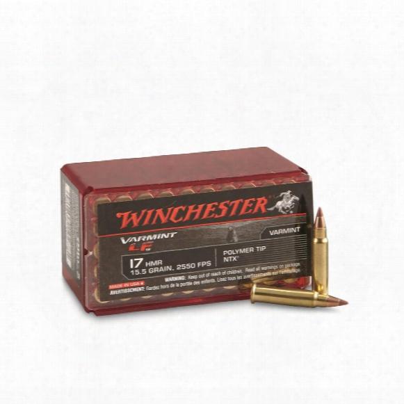 Winchester, .17hmr, Ntx Lead-free, 15.5 Grain, 50 Rounds