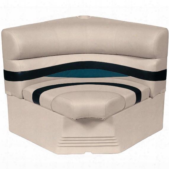"Wise® Premier 1100 Series 32"" Pontoon Radius Corner Seat"