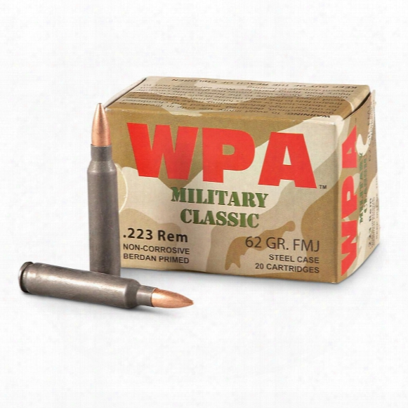 Wpa Polyformance, .223 Rem, Fmj, 62 Grain, 240 Rounds