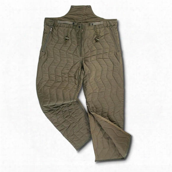 3 New German Military Surplus Pant Liners, Olive Drab