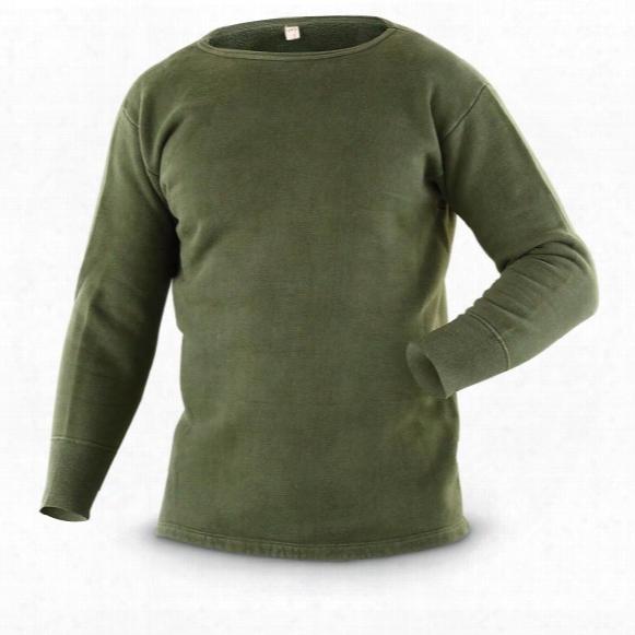 4-pk. Used Belgian Military Surplus Fleece Long-sleveed Shirts