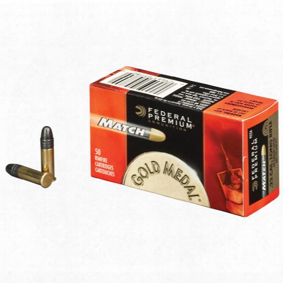 50 Rounds Federal Premium Gold Medall .22lr 40 Grain Lead Match Ammo
