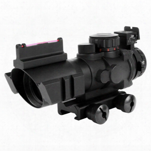 Aim Sports 4x32 Tri-illuminated Scope With Red Fiber Optic Sight