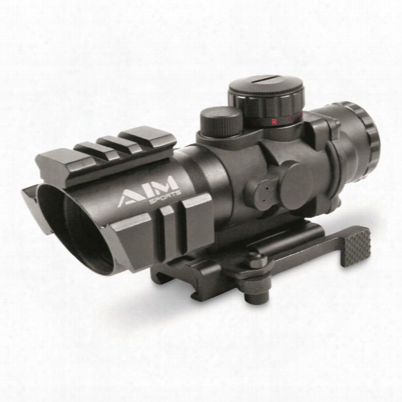 Aim Sports Prismatic Series, 4x32mm, Rapid Ranging Reticle, Rifle Scope