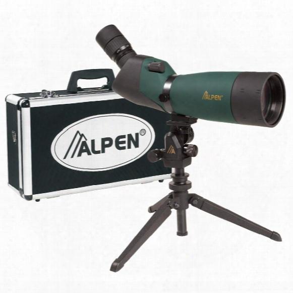 Alpen 20-60x80mm Waterproof Angled Spotting Scope Kit W Ith 45° Eyepiece