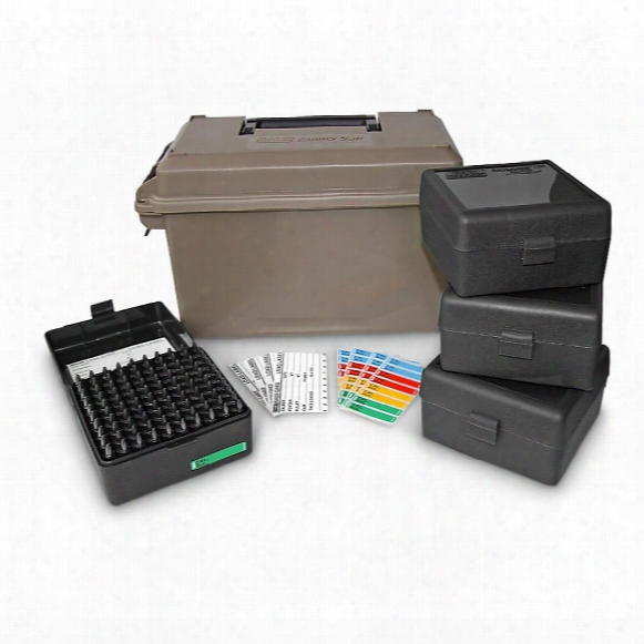 Ammo Can, .223 Acp Caliber, With 4 Ammo Boxes, Holds 400 Rounds
