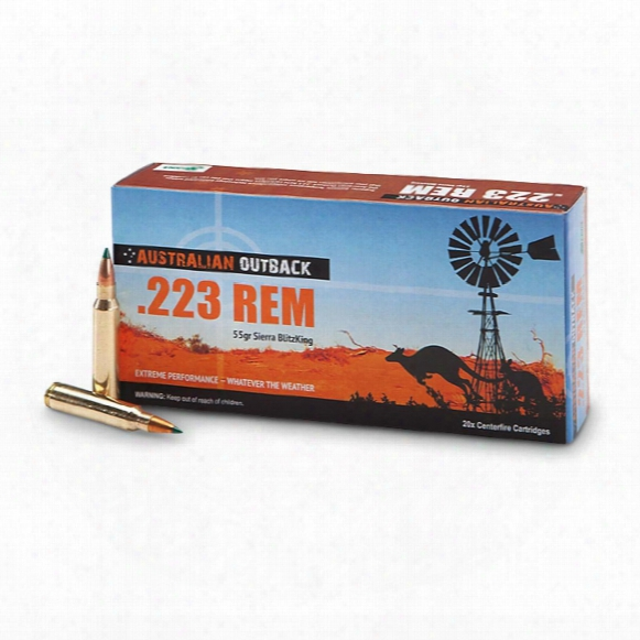 Australian Outback, .223 Remington, Sbt, 55 Grain, 20 Rounds