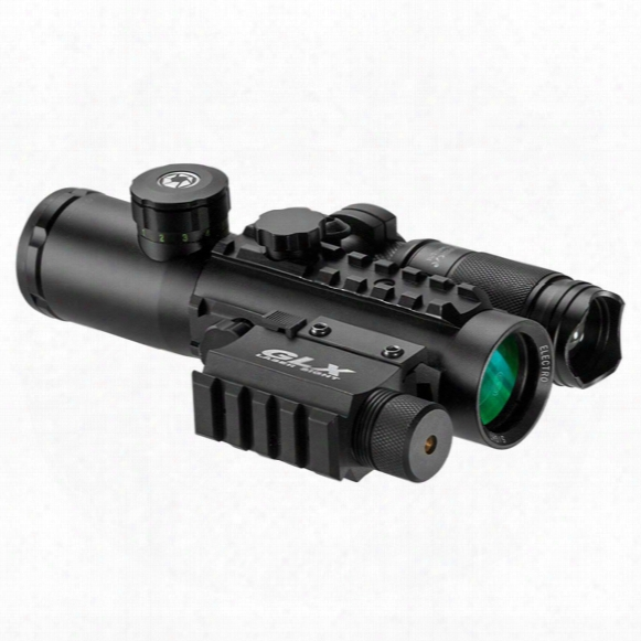 Barska 4x30 Ir Electro Sight With Green Laser And 140 Lumen Flashlight