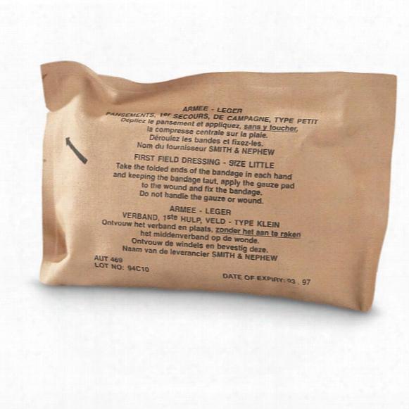 Belgian Military Surplus Gauze Bandages, 25 Pack, New