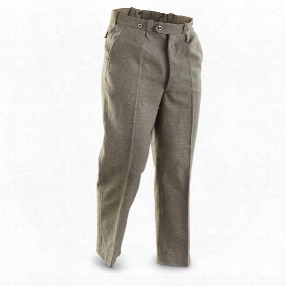Belgian Military Surplus Wool-blend Pants, 2 Pack, Used
