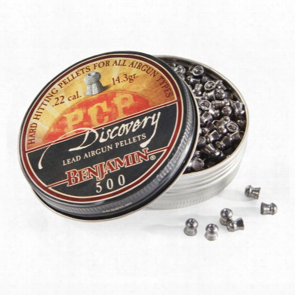 Benjamin Discovery Hp Air Rifle Pellets, .22 Caliber, 14.3 Grain, 500 Pack