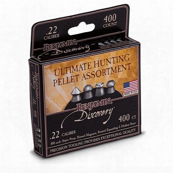 Benjamin Pellet Hunting Assortment, .22 Caliber, 14.3 Grains, 400 Count