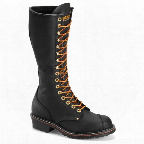 "Carolina Men's Leather 16"" Domestic Linesman Work Boots"