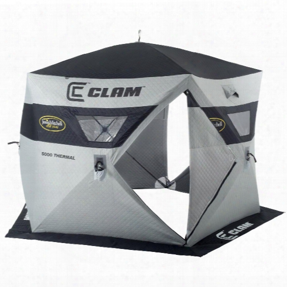 Clam Jason Mitchell Thermal 5000 6-angler Ice Shelter