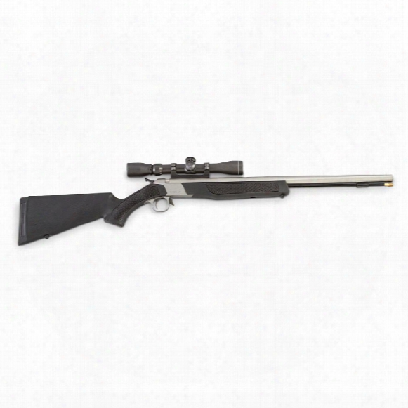 Cva Wolf 209 Magnum .50 Cal. Break-action Muzzleloader Outfit, Black / Stainless Steel