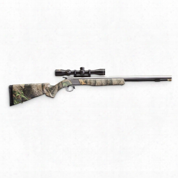 Cva Wolf 209 Magnum .50 Cal. Break-action Muzzleloader Outfit, Camo / Stainless Steel