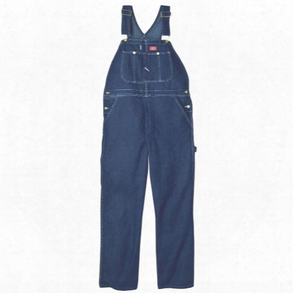 Dickies® Enzyme-washed Work Bib Overalls, Stonewashed Indigo