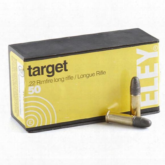 Eley Target Ammunition, .22lr, Lrn, 40 Grain, 500 Rounds