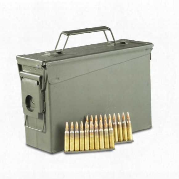 Federal American Eagle, .223 (5.56x45mm), Fmj, 55 Grain, 420 Rounds With Stripper Clips And Can